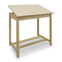 Hann, Drawing Table with Adjustable Top and Storage - 30