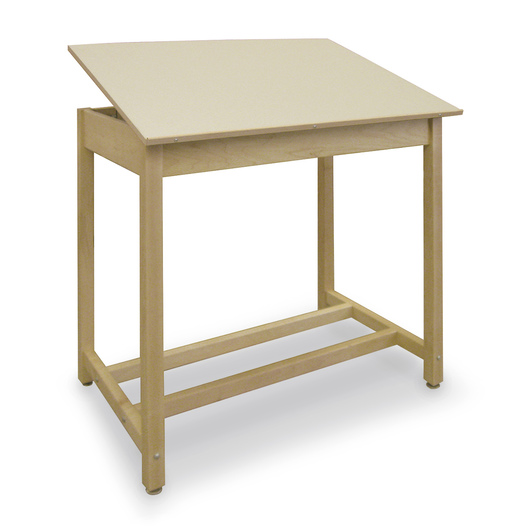 Drawing Table - 30 in. W x 42 in. D x 39 in. H - Adjustable Top