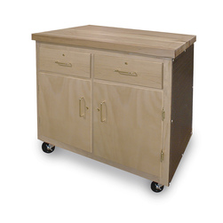 Hann, All-Purpose Mobile Cart with Locking Storage - 36