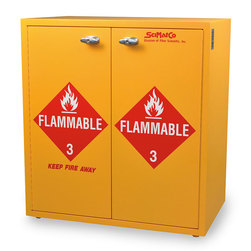 SciMatco Jumbo Stacking Cabinets - Flammables Yes - 24 x 1 Gallon Capacity - Self- Closing Door