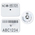 Y-TEX® SwineStar® Max™ Official Premises Tags - Blank USDA PIN Tags - 1-1/2 x 2-1/8 - Set of 25 - White