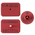 Y-TEX® SwineStar® Max™ Official Premises Tags - Blank USDA PIN Tags - 1-1/2 in. x 2-1/8 in. - Set of 25 - Red