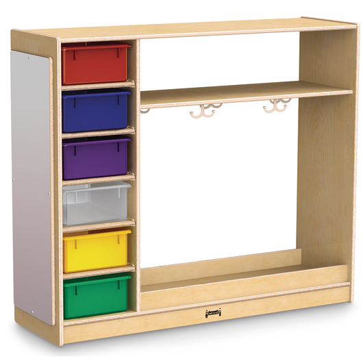 Jonti-Craft® Dress-Up Storage with Colored Tubs - 48 W x 15 D x 41-1/2 H