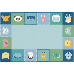 KIDSoft™ Premium Collection Baby Animals Border Rug - Rectangle
