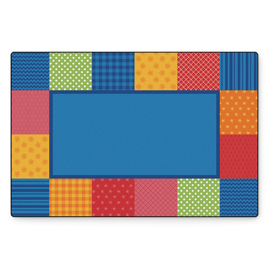 KIDSoft™ Premium Collection - Pattern Blocks - Primary - Rectangle - 4 ft. x 6 ft.