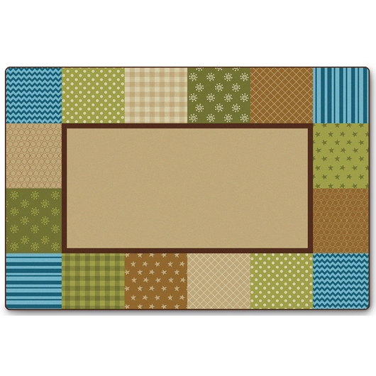 KIDSoft™ Premium Collection - Pattern Blocks - Natural - Rectangle - 4 ft. x 6 ft.
