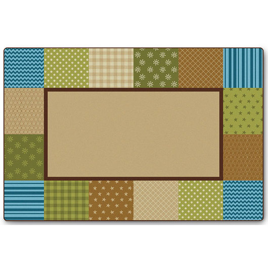 KIDSoft™ Premium Collection - Pattern Blocks - Natural - Rectangle - 8 ft. x 12 ft.