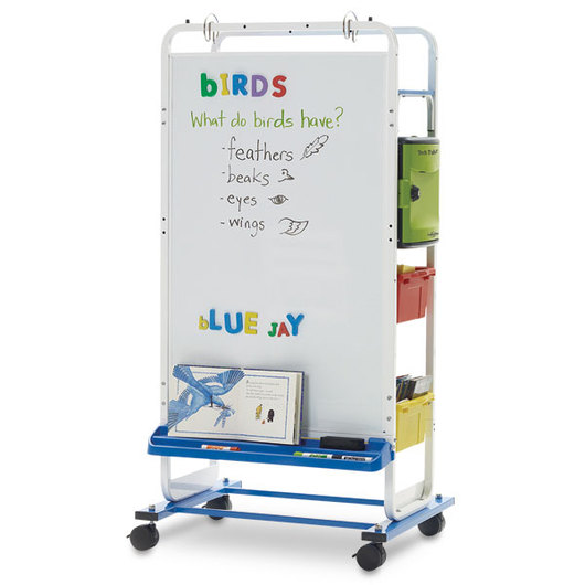 Dual-Duty Teaching Easel with Tech Tub2® for 12 Devices Without USB Hub