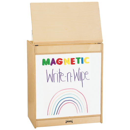 Jonti-Craft® Big Book Easel with Magnetic Write-n-Wipe Board - 24-1/2 in. W x 15 in. D x 43 in. H