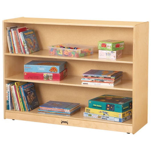 Jonti-Craft® Mobile Adjustable Bookcase - 48 in. W x 15 in. D x 35-1/2 in. H