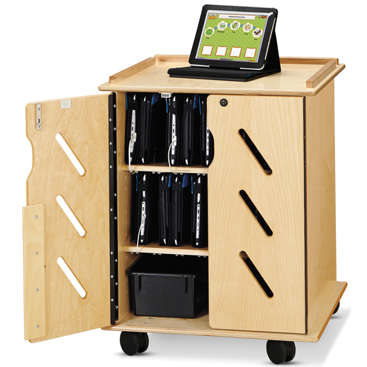 Jonti-Craft® Laptop and Tablet Storage Cart - 24 in. W x 23 in. D x 30 in. H