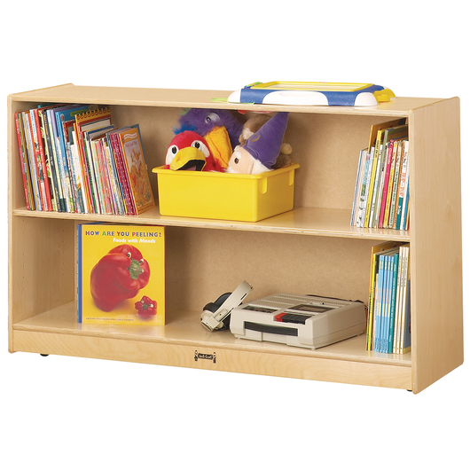 Jonti-Craft® Low Adjustable Bookcase - 48 in. W x 15 in. D x 29-1/2 in. H