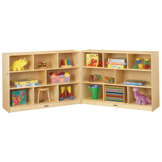 Jonti-Craft® Super-Sized Fold-n-Lock Mobile Storage - 96 in. W x 15 in. D x 35-1/2 in. H