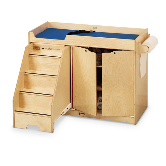 Jonti-Craft® Changing Table with Stairs - 22-1/2 in. W x 48 in. D x 39 in. H
