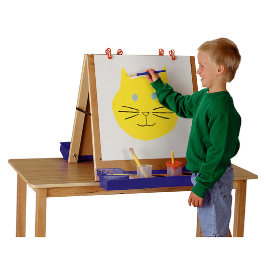Jonti-Craft® Tabletop Adjustable Easel - 32 in. W x 24 in. D x 24 in. H