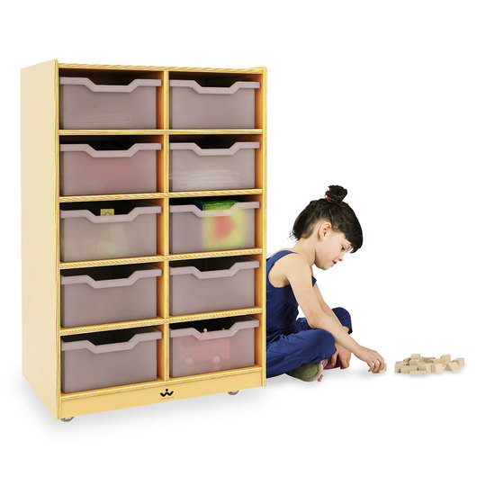 Whitney Brothers® 10-Cubby Tray Storage