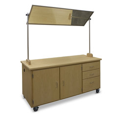 Hann Manufacturing Mobile Demonstration Table with Mirror - 72 in. L x 30 in. W x 36 in. H