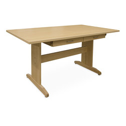 Hann Maple Cutting Table with Drawer Storage - 72 in. W x 42 in. D x 36 in. H