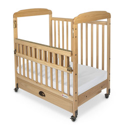 Serenity Compact, SafeReach Clearview Wooden Crib - Natural