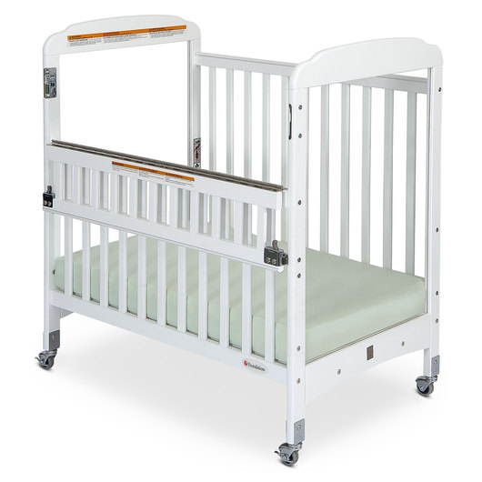 Serenity® Compact, SafeReach® Clearview Wooden Crib - White