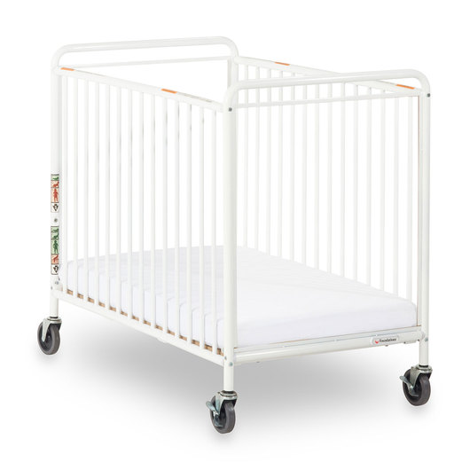 Chelsea™ Crib with Clearview End Panel and 4 in. Commercial Casters