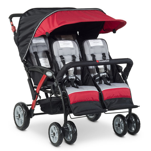 Quad Sport™ Splash 4-Passenger Stroller - Red