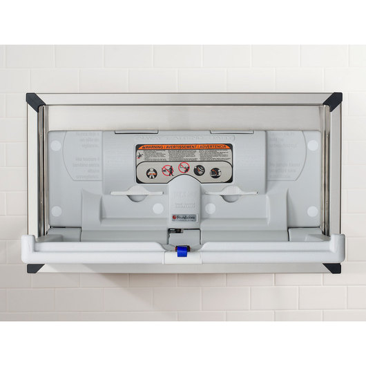 Standard Baby Changing Station - Horizontal - Stainless Steel Frame