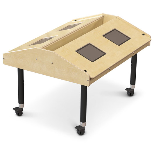 Jonti-Craft™ Tablet Table - Quad - Mobile - 42 W x 33-1/2 D x 27-38 H