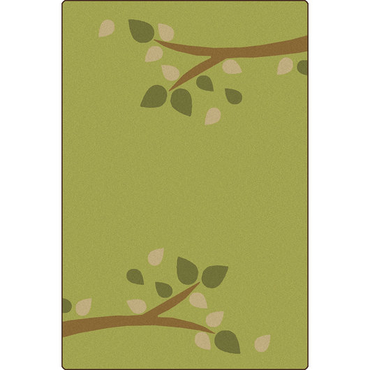 Carpets for Kids® KIDSoft™ Branching Out Rug - 6 ft. x 9 ft. - Green
