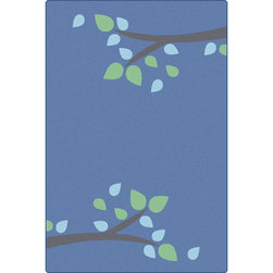 Carpets for Kids® KIDSoft™ Branching Out Rug - 6 ft. x 9 ft. - Blue