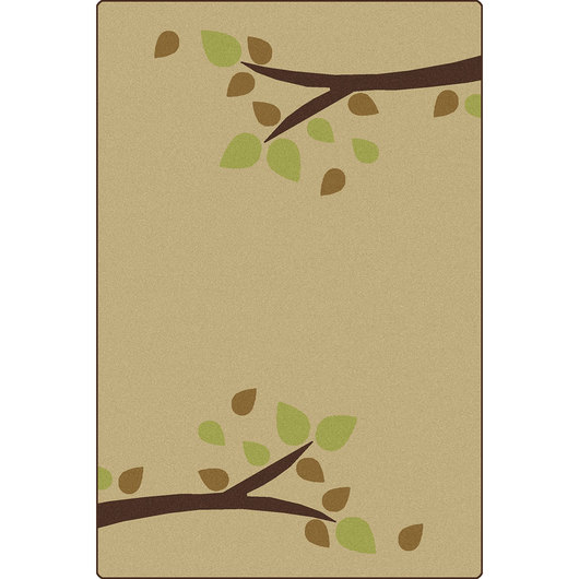 Carpets for Kids® KIDSoft™ Branching Out Rug - 6 ft. x 9 ft. - Tan