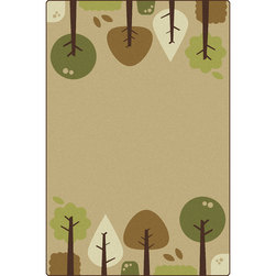 Carpets for Kids® KIDSoft™ Tranquil Trees Rug - Rectangle - 4 ft. x 6 ft. - Tan