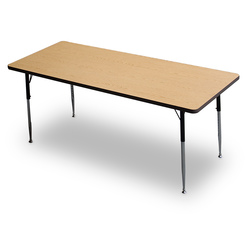 Allied F5 Series Multipurpose Table - 30 in. x 72 in. Rectangle - Light Oak - 20-1/2 in. x 29-1/2 in. Leg Height