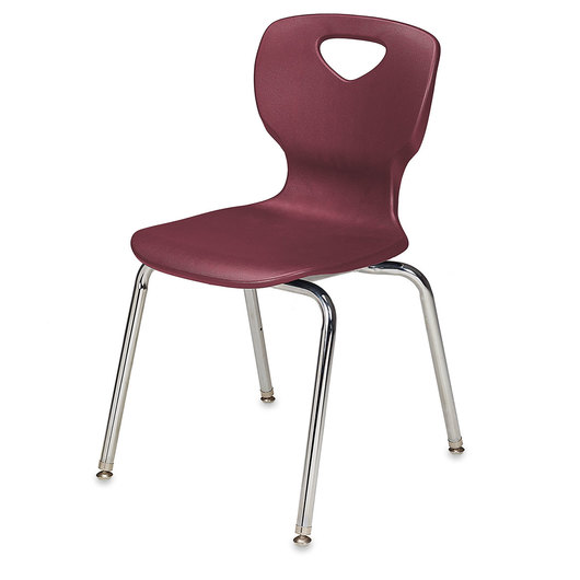 Allied Choice™ Series Ergonomic 14 in. Stack Chair - Burgundy