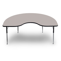 Allied F5 Series Multipurpose Table - 48 in. x 72 in. Kidney - Gray Nebula - 20-1/2 in. x 29-1/2 in. Leg Height
