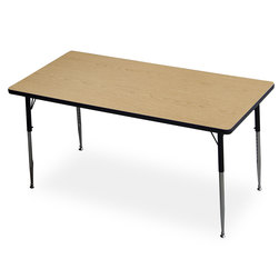 Allied F5 Series Multipurpose Table - 30 in. x 60 in. Rectangle - Light Oak - 20-1/2 in. x 29-1/2 in. Leg Height