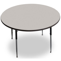 Allied F5 Series Multipurpose Table - 48 in. dia. Round - Gray Nebula - 15 in.-24-1/2 in. Leg Height