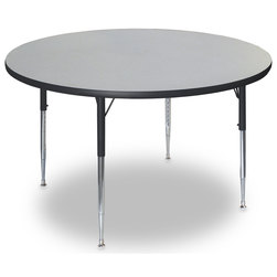 Allied F5 Series Multipurpose Table - 48 in. dia. Round - Gray Nebula - 20-1/2 in. x 29-1/2 in. Leg Height