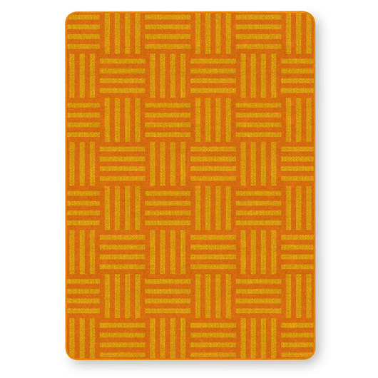 Flagship Carpets® Tone on Tone Hash Tag™ Texture Solids® Carpet - Orange - 6 ft. x 8 ft. 4