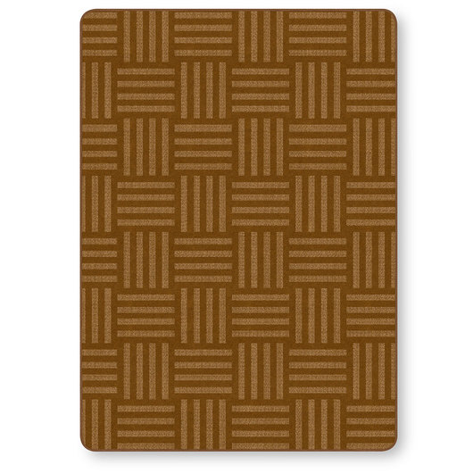 Flagship Carpets® Tone on Tone Hash Tag™ Texture Solids® Carpet - Chocolate - 6 ft. x 8 ft. 4