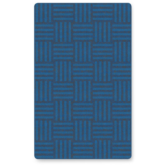 Flagship Carpets® Tone on Tone Hash Tag™ Texture Solids® Carpet - Blue - 7 ft. 6 in. x 12 ft.