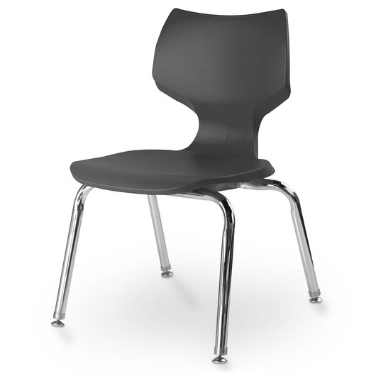 Flavors® Stack Chair - 14 H - Black