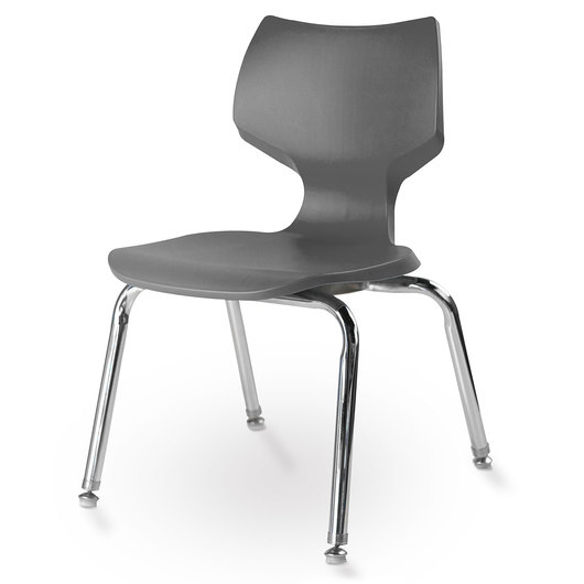 Flavors® Stack Chair - 14 H - Charcoal