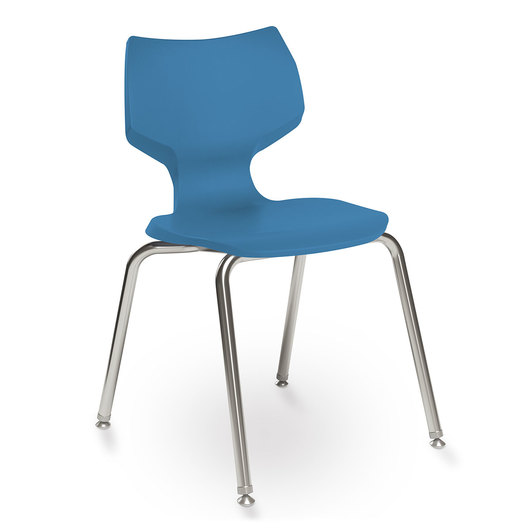 Flavors® Stack Chair - 16 in. H - Cerulean Blue
