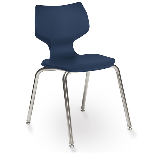 Flavors® Stack Chair - 16 in. H - Navy