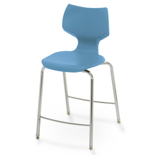 Flavors® Fixed-Height Stool - 24 in. H - Cerulean Blue