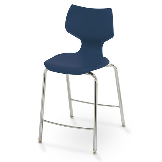 Flavors® Fixed-Height Stool - 24 in. H - Navy