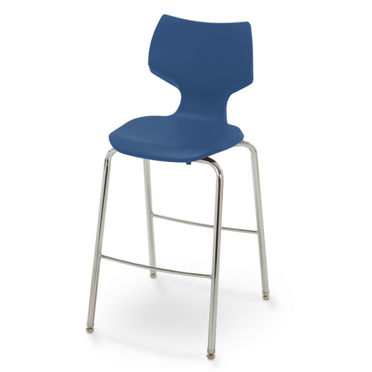 Flavors® Fixed-Height Stool - 28 in. H - Persian Blue