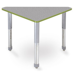 Interchange Wing™ Desk - Gray Nebula Top - Apple Edges