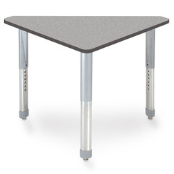 Interchange Wing™ Desk - Gray Nebula Top - Charcoal Edges